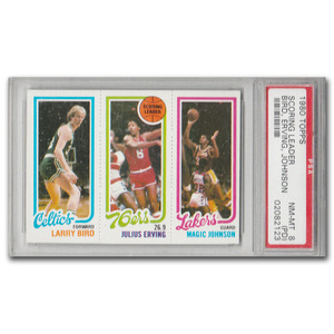 Larry Bird/Magic Johnson 1980 Topps Rookie Card - 8 Near Mint-Mint