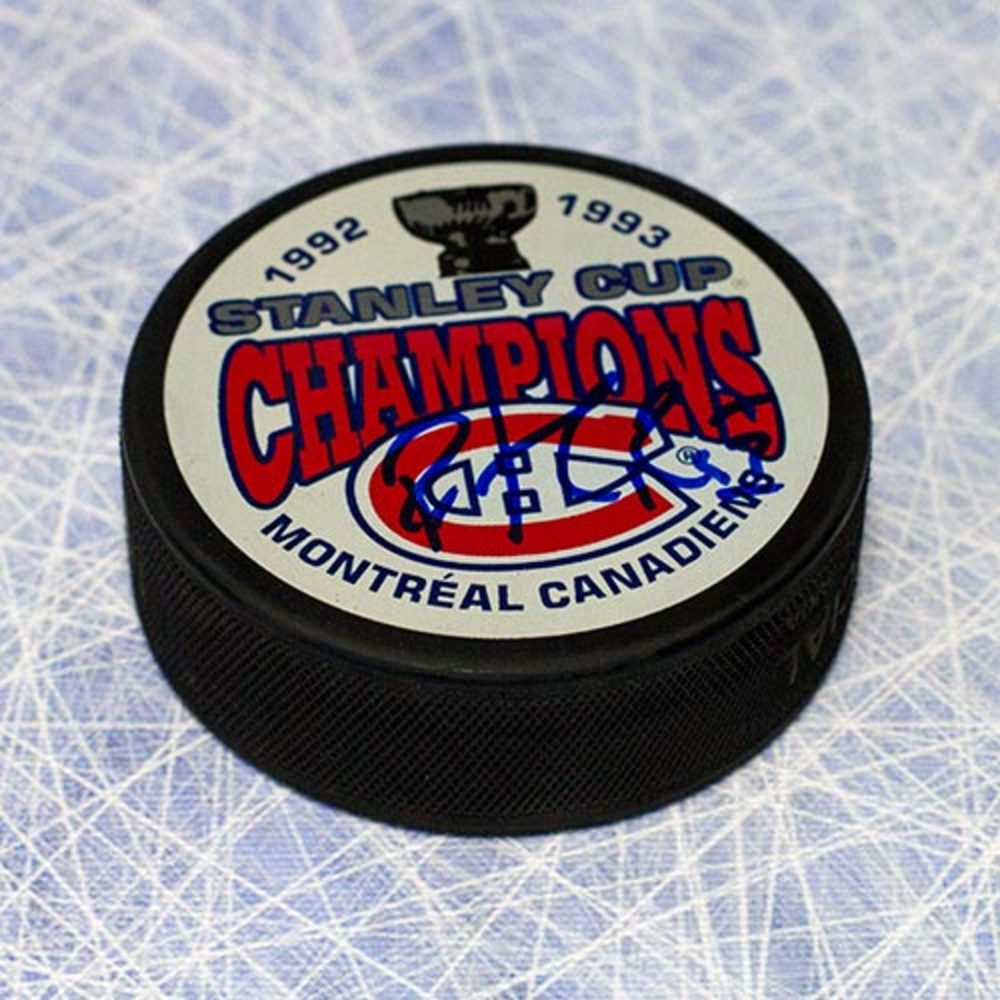 Patrick Roy Montreal Canadiens Autographed 1993 Stanley Cup Puck