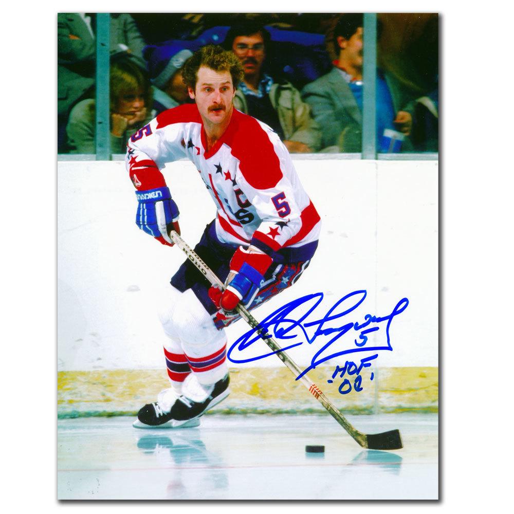 Rod Langway Washington Capitals HOF Autographed 8x10