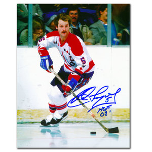 Rod Langway Washington Capitals HOF Autographed 8x10