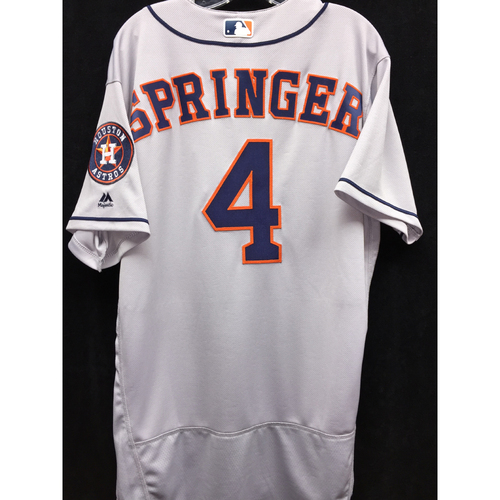 Photo of Team-Issued 2016 George Springer Road Gray Jersey