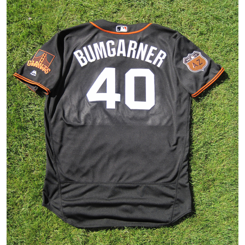 Photo of San Francisco Giants - Game Used Jersey - Spring Training - Madison Bumgarner #40