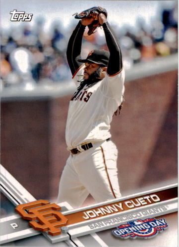 Photo of 2017 Topps Opening Day #184 Johnny Cueto