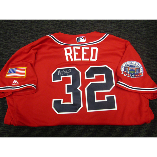 Photo of Braves Charity Auction - Marty Reed Game Used & Autographed Braves Military Appreciation Jersey