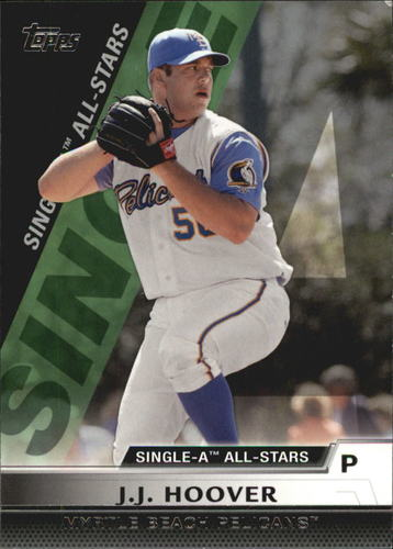Photo of 2011 Topps Pro Debut Single-A All Stars #SA23 J.J. Hoover -- D'backs post-season