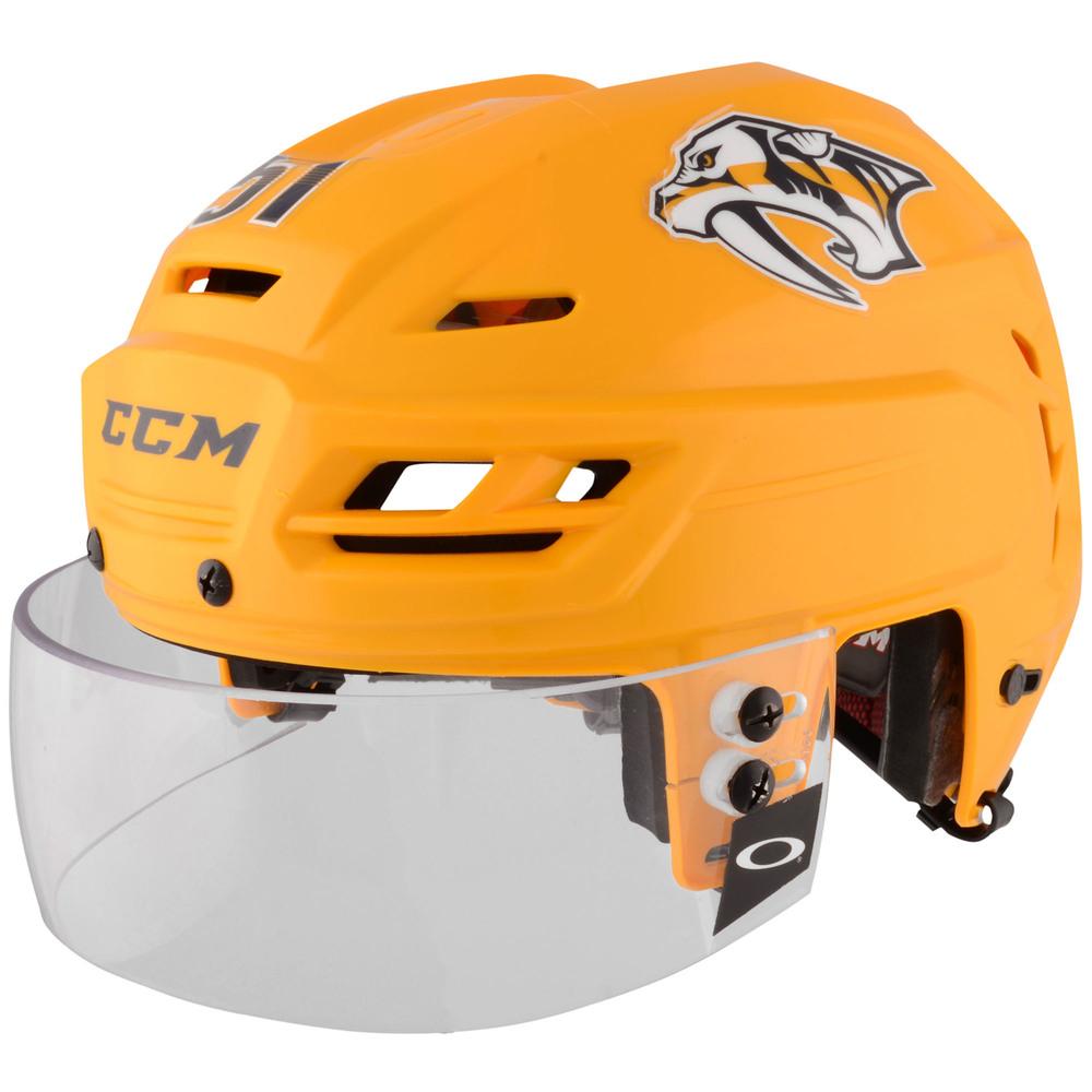 Austin Watson Nashville Predators - 2017 Stanley Cup Final Game-Worn Gold Helmet