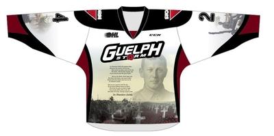 Liam Hawel #15 game worn Remembrance jersey
