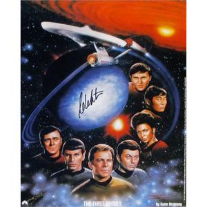 William Shatner Autographed Star Trek Print