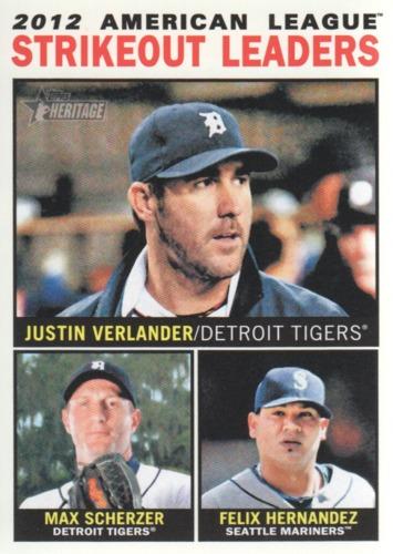 Photo of 2013 Topps Heritage #6 Justin Verlander/Max Scherzer/Felix Hernandez