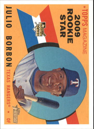 Photo of 2009 Topps Heritage #617 Julio Borbon RC