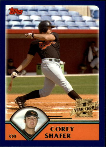 Photo of 2003 Topps Traded #T247 Corey Shafer FY RC