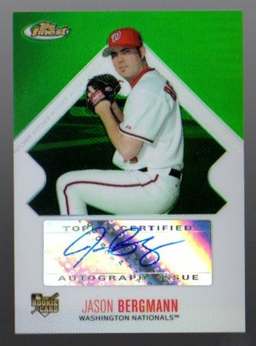 Photo of 2006 Finest Refractors Green #147 Jason Bergmann AU