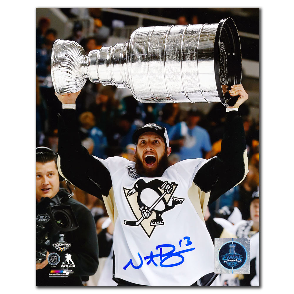 Nick Bonino Pittsburgh Penguins 2016 Stanley Cup Autographed 8x10
