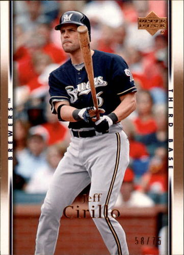 Photo of 2007 Upper Deck Gold #363 Jeff Cirillo /75