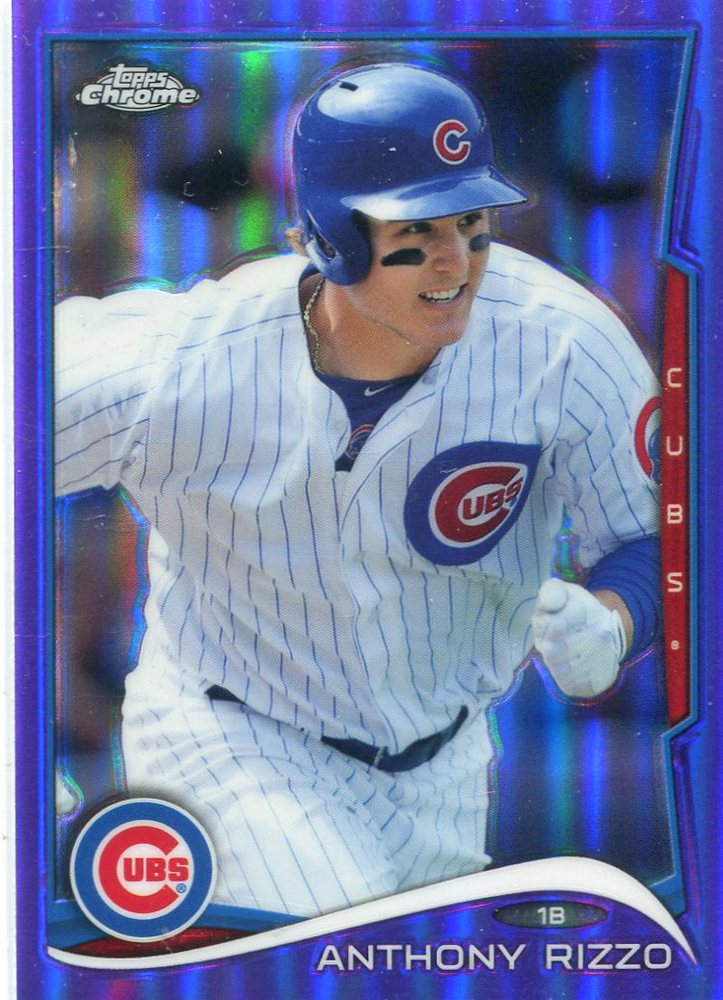 2014 Topps Chrome Purple Refractors #58 Anthony Rizzo