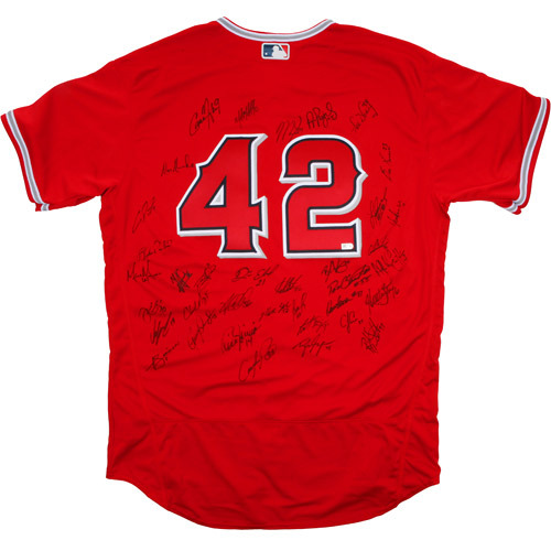 Photo of 2017 Jackie Robinson Day Jersey - Los Angeles Angels Team Autographed Jersey