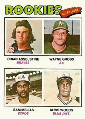 Photo of 1977 Topps #479 Rookie Outfielders/Brian Asselstine RC/Wayne Gross RC/Sam Mejias RC/Alvis Woods RC