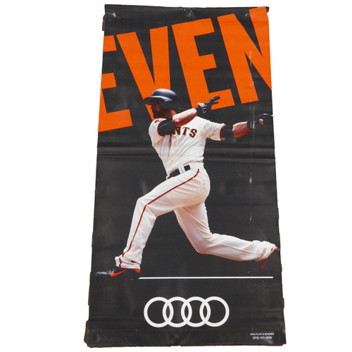 Photo of San Francisco Giants - 2016 Vinyl Street Banner - Angel Pagan
