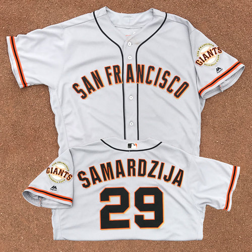 San Francisco Giants - Game-Used Jersey - Jeff Samardzija - Worn on 5/3/17 - 8 IP, 0 ER, 3 H, 5 SO and 5/20/17 - 8 IP, 0 ER, 5 H, 8 SO