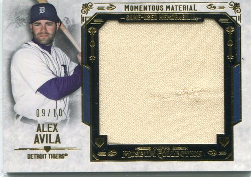 Photo of 2015 Topps Museum Collection Momentous Material Jumbo Relics Gold  Alex Avila 9/10