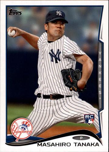 Photo of 2014 Topps #661A Masahiro Tanaka Rookie Card -- Yankees post-season