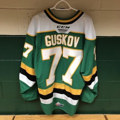 Matvey Guskov 2019-2020 Green Game Jersey