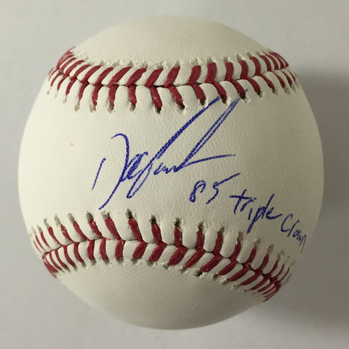 "Photo of Doc Gooden Autographed ""85 Triple Crown"" Baseball"