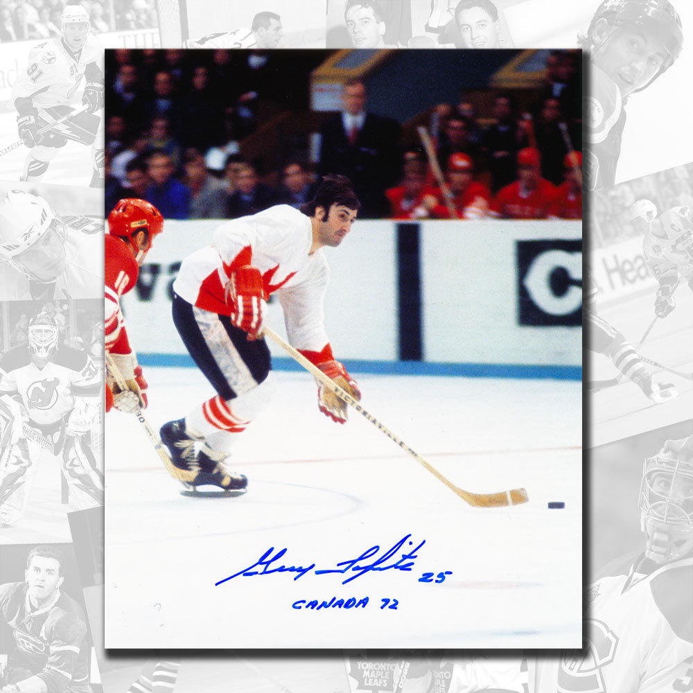 Guy Lapointe Team Canada 1972 Autographed 8x10 w/ Canada '72 Inscription
