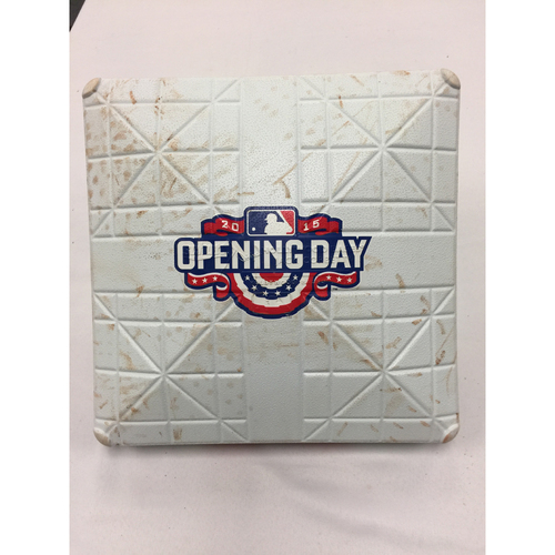 Photo of April 13, 2015 Nationals at Red Sox Opening Day Game-Used 3rd Base