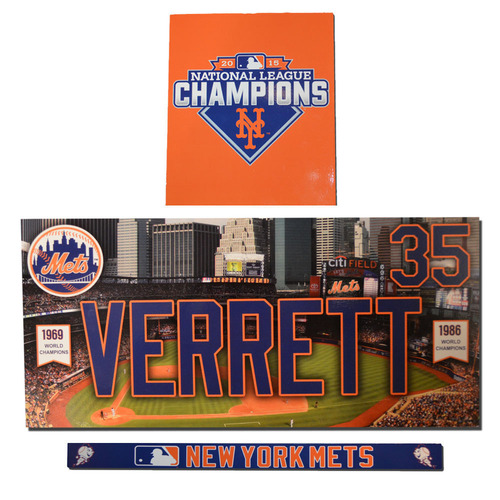 Photo of Logan Verrett #35 - Game Used Locker Nameplate Set - 2016 Season