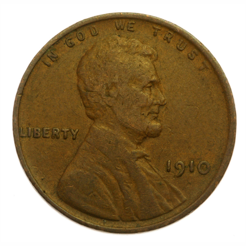 1910 P Lincoln Wheat Cent 107 Years Old Actual Photos Shown