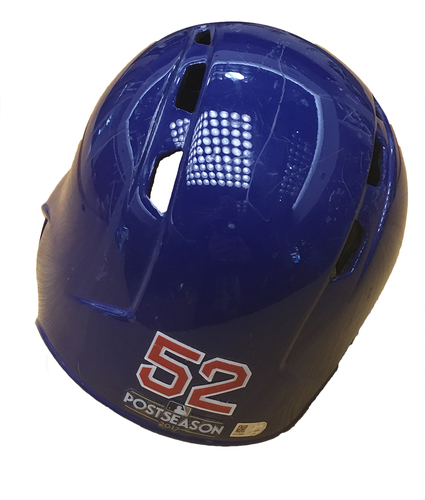 Photo of Justin Grimm 2017 Postseason Batting Helmet