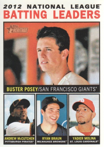 Photo of 2013 Topps Heritage #7 Buster Posey/Andrew McCutchen/Ryan Braun/Yadier Molina