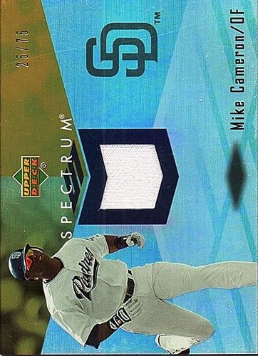 Photo of 2007 Upper Deck Spectrum Swatches Gold #MC Mike Cameron Jersey /75
