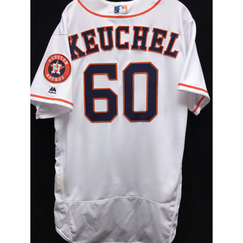 Photo of Game-Used 2016 Dallas Keuchel Home Jersey