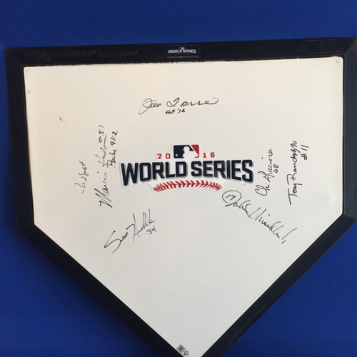 Photo of UMPS CARE AUCTION: 2016 World Series Crew Signed Commemorative Plate + Joe Torre