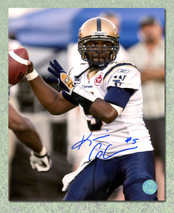 Kevin Glenn Winnipeg Blue Bombers Autographed CFL 8x10 Photo