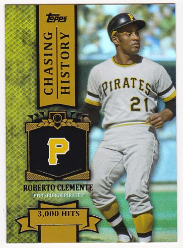 Photo of 2013 Topps Chasing History Holofoil Gold Roberto Clemente