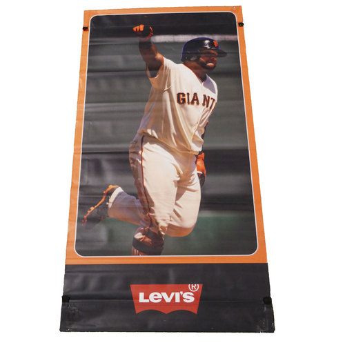 Photo of San Francisco Giants - 2014 Vinyl Street Banner - Pablo Sandoval - We Are in it Together