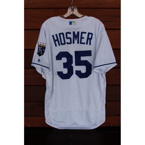 Photo of Game-Used Jersey: Eric Hosmer (Size 46 - MIN at KC - 9/9/17)