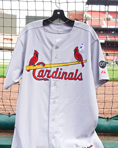 Photo of Cardinals Authentics: Kolten Wong 1961 Turn Back the Clock Game Worn Jersey