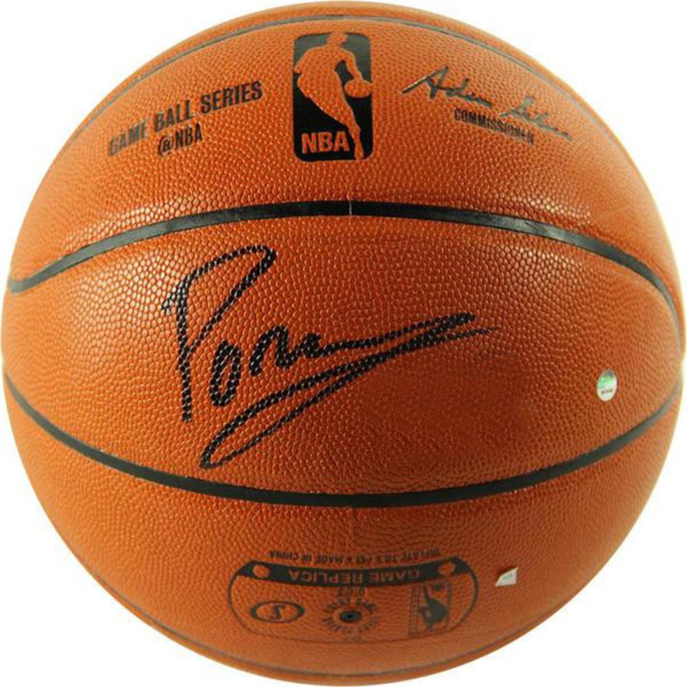 Kristaps Porzingis Signed I/O Basketball