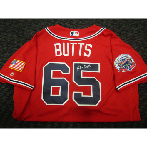 Photo of Braves Charity Auction - Alan Butts Game Used & Autographed Braves Military Appreciation Jersey