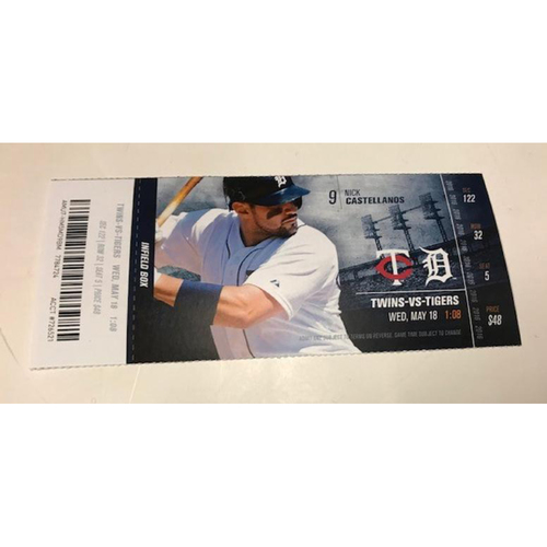 Ticket from Justin Verlander's 2000th Strikeout Game