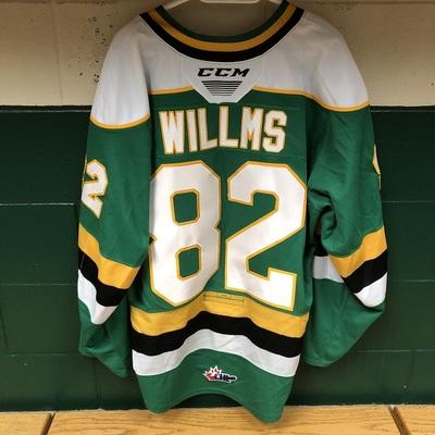 Jason Willms 2019-2020 Green Game Jersey