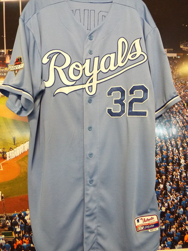 Photo of Club Issued Chris Young Powder Blue 2015 Postseason Jersey