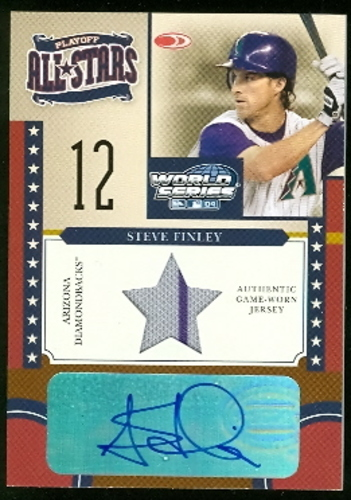 Photo of 2004 Donruss World Series Playoff All-Stars Signature Material 1 #3 Steve Finley Jsy/100