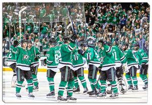Dallas Stars - 20x29 Dallas Stars Stick Salute Canvas - 2016 Stanley Cup Playoffs