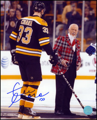ZDENO CHARA Boston Bruins SIGNED 8x10 Photo w/ Don Cherry