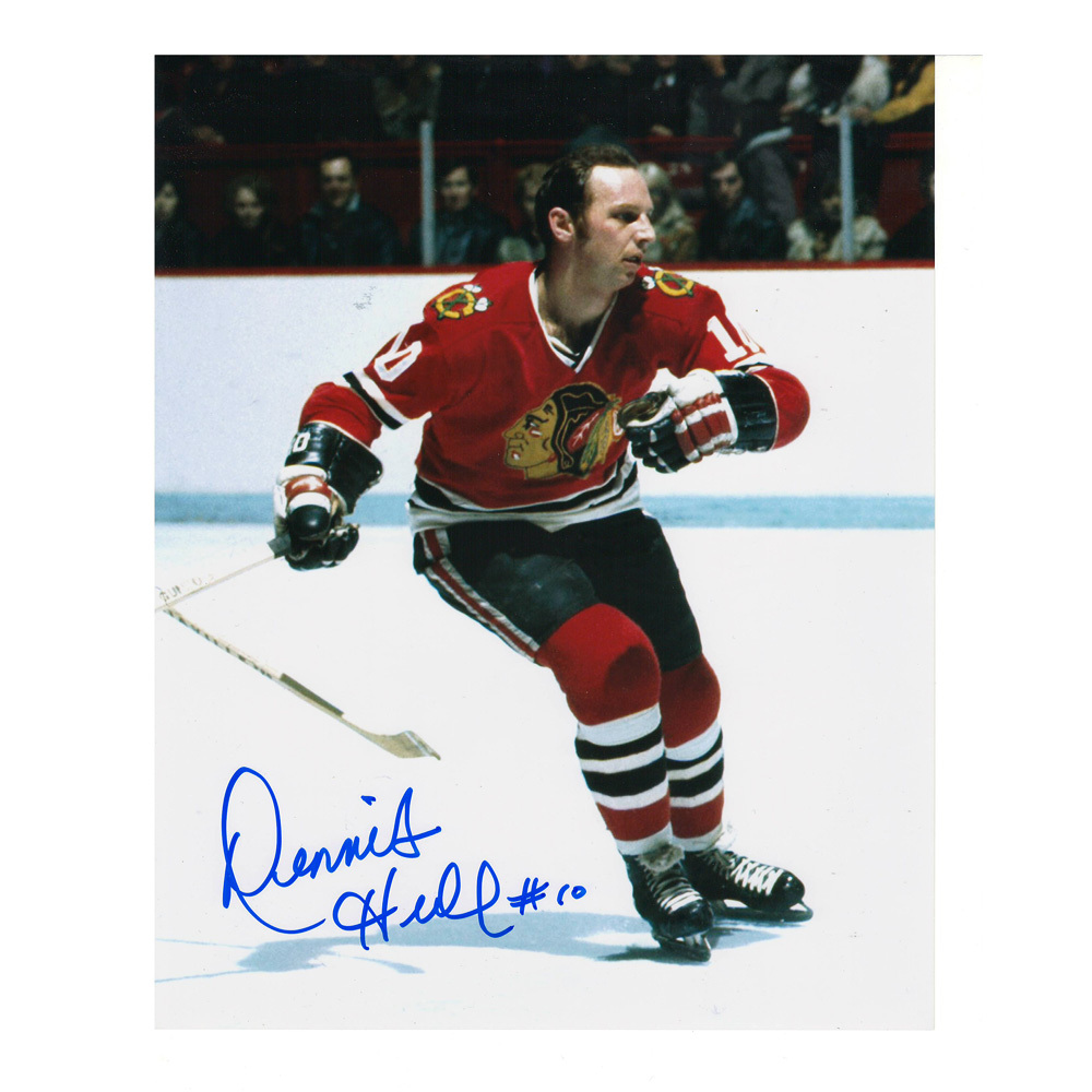 DENNIS HULL Signed Chicago Blackhawks 8 X 10 Photo - 70296